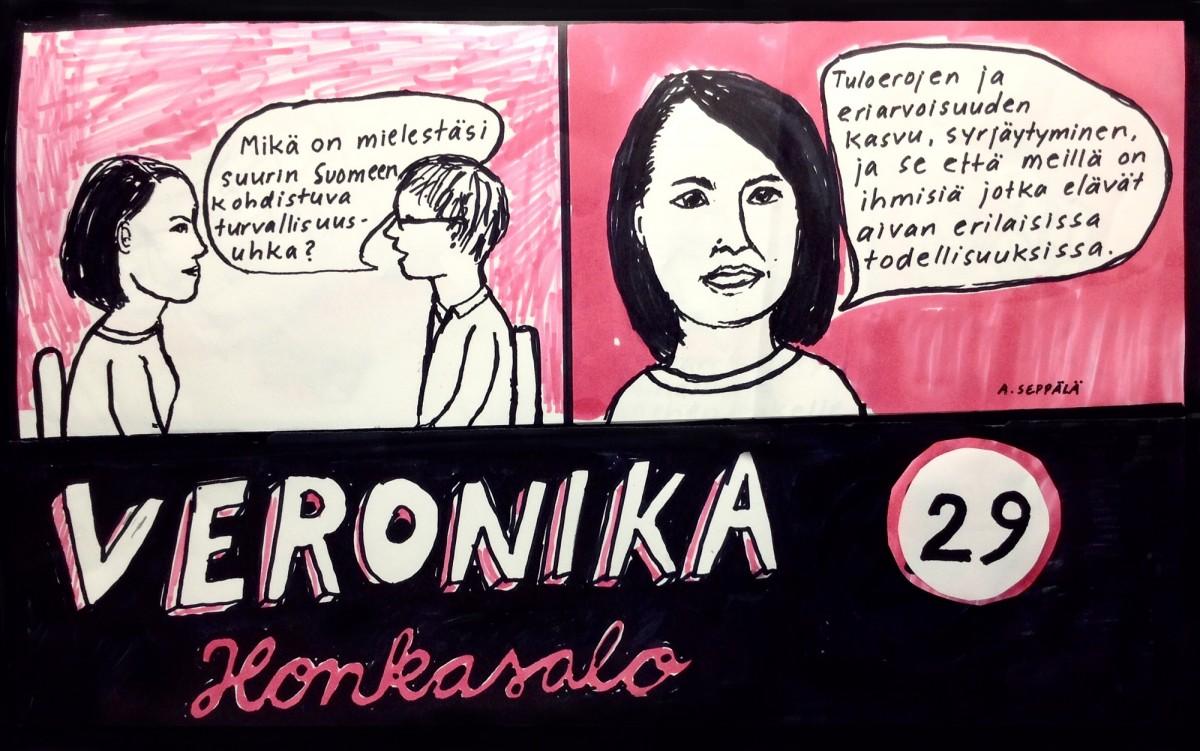 Veronika vaalitentissä